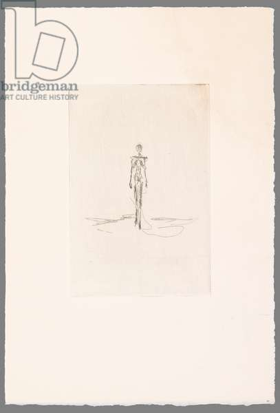 Walking Woman, for l'Epervier by Jacques Dupin (etching)