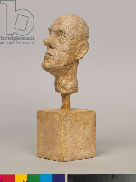 Diego [Head on a Cubical Base], 1958 (plaster)
