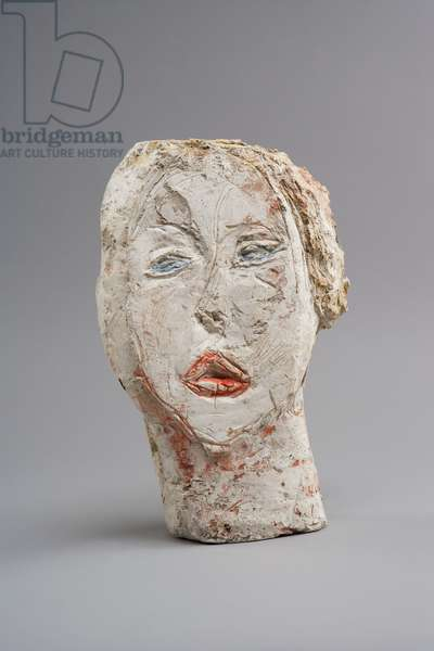 Head of Woman (Flora Mayo), 1926 (plaster reworked with pocket knife and painted) (see also 861067)