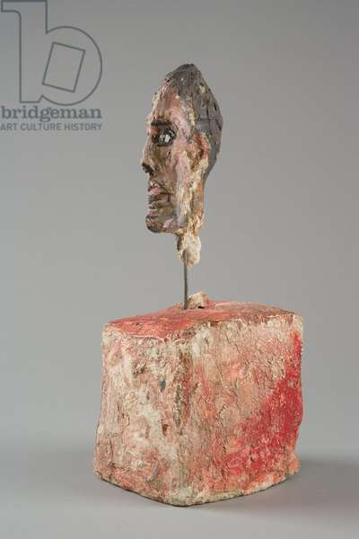 [Head of a Man on a Base], c.1949-51 (painted plaster)