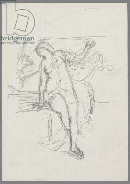 After Titian: Sacred and Profane Love (pencil on paper)