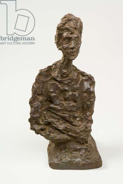 Bust of a Woman with Folded Arms (Francine Torrent), 1964 (bronze)