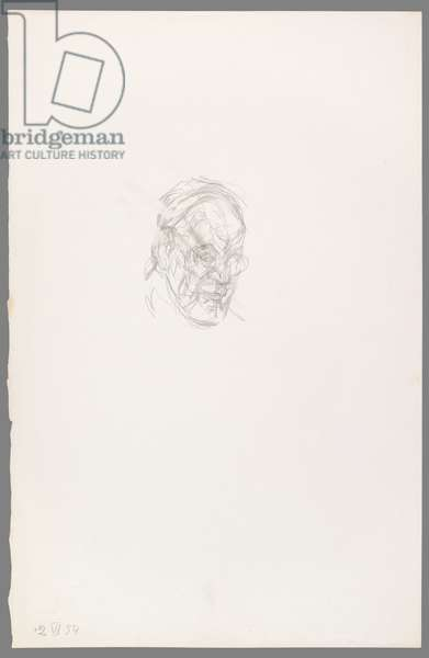 Head of Henri Matisse Half-Turned, 2 July 1954 (pencil on paper)