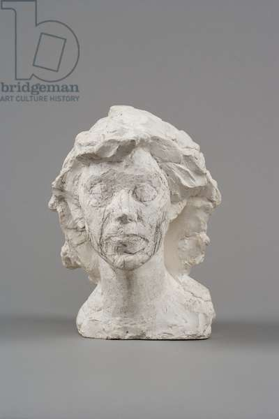 Head of Isabel, c.1938-9 (plaster enhanced with pencil)
