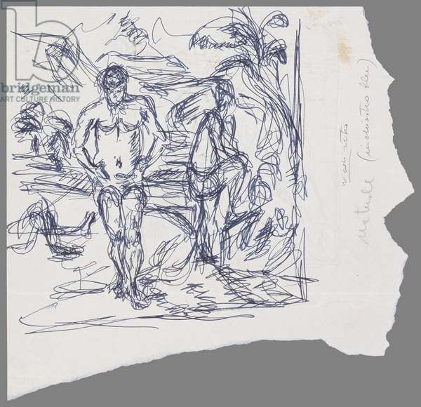 After Cézanne: The Bathers (pen & ink on paper)