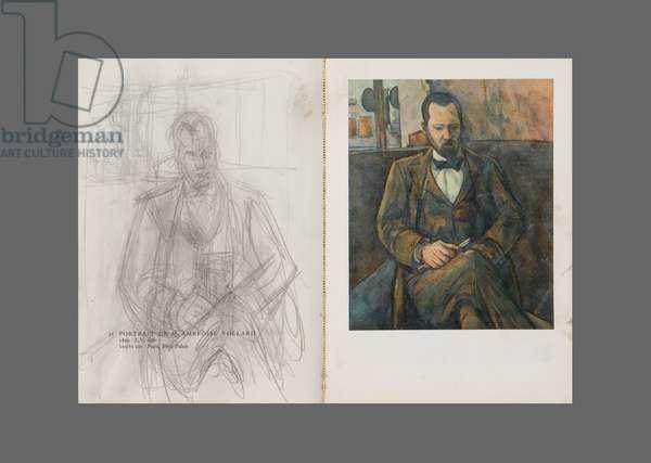 After Cézanne: Portrait of Ambroise Vollard, c.1949 (pencil on paper & colour litho)