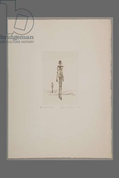 Walking Woman and Standing Figure, 1960 (etching)