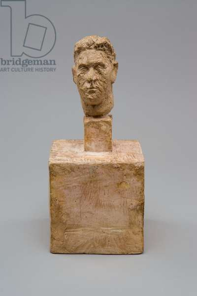 [Head of the Colonel Rol-Tanguy on a double base], 1946 (plaster)