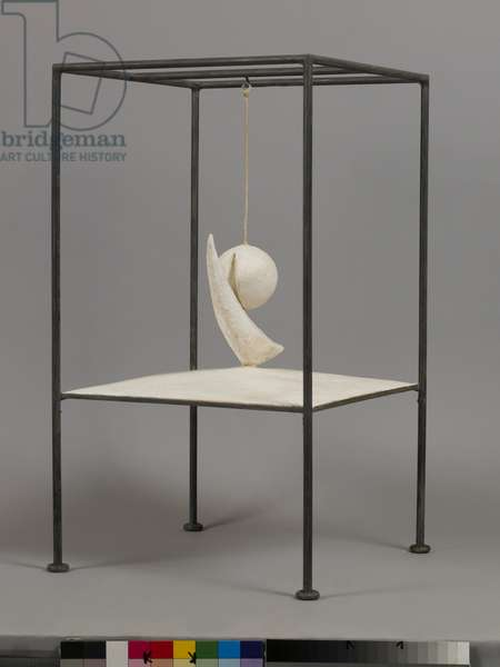 Suspended Ball, 1931 (1965 version) (plaster & metal)