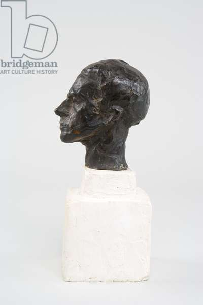 Head of Diego on a Double Base, c.1936-37 (bronze on plaster base)