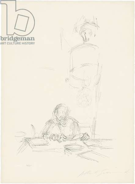 The Artist's Mother Reading I, 1965 (litho)
