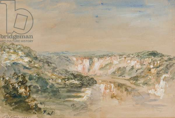 The Bend in the River, near Chepstow, Monmouthshire, 1905 (w/c & gouache on paper)