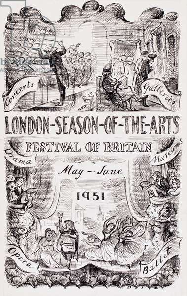 The Festival of Britain, 1951 (pen & ink on paper)