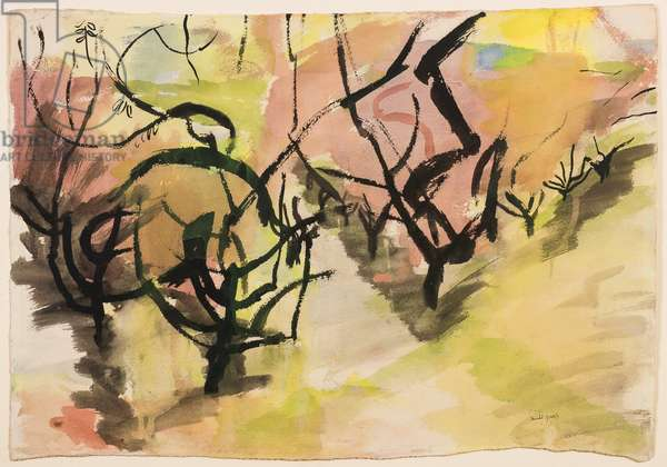 Orchard, 1956 (ink & w/c on paper)