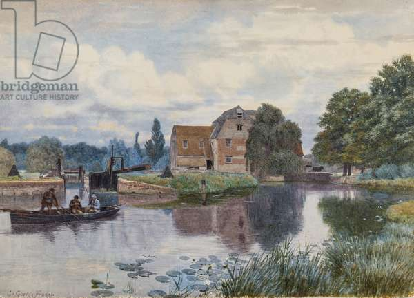 Hemingford Mill, On the Ouse, Huntingdonshire (w/c & gouache on paper)