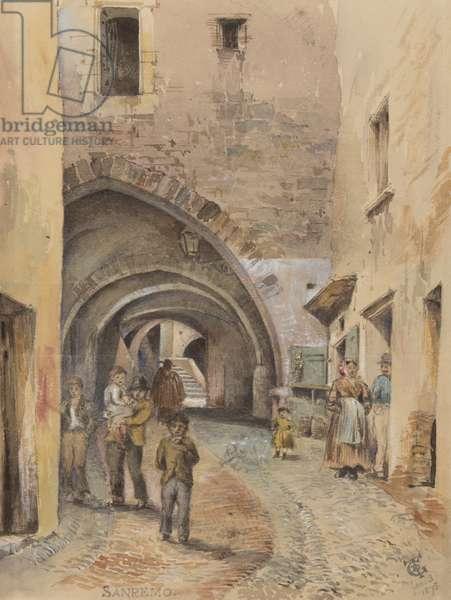 San Remo, 3rd Jan, 1878 (w/c & gouache on paper)