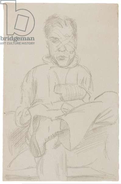 Sub-Lieutenant Michael Wynn, Milag O, or the 'Aufnahmelager', Westertimke, Lower Saxony, April/May 1942 (pencil on paper)