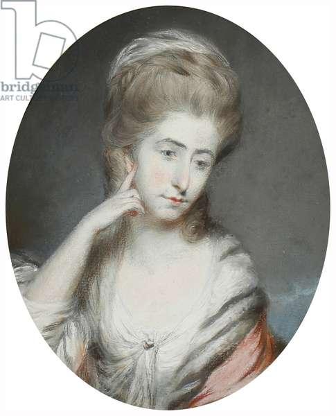 Williamza Moore, before 1800 (graphite & pastel on paper)
