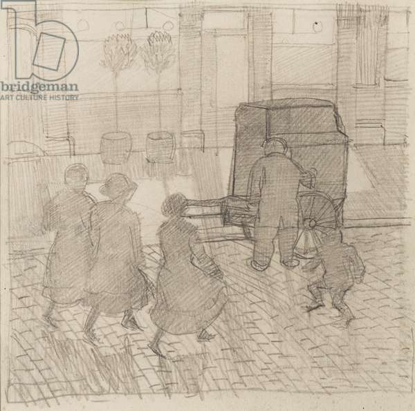Organ Grinder, c.1914 (pencil on paper)