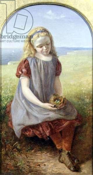 Girl with Bird's Nest, 1866 (oil on canvas)