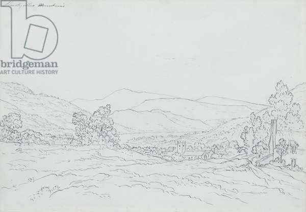 Llantysilio Mountain, Wales (pencil, pen & ink on paper)
