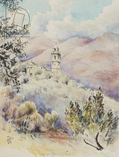 Church of San Donato, Varezzo, near San Remo, 11th February 1878 (w/c on paper)