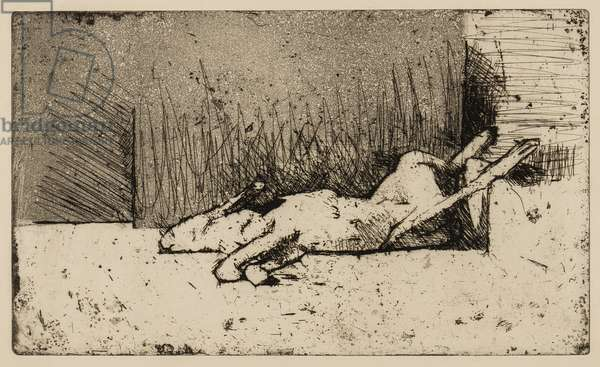 Still Life with Hare (etching & aquatint)