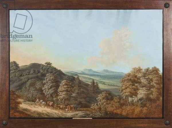 Coburg or Thuringia: 'Bei Coburg nach den Gleichens bergen hin', c.1800 (gouache on paper)