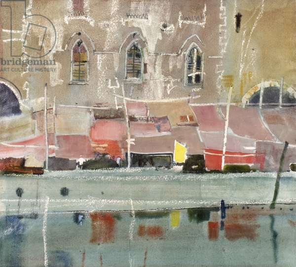 Covered Market, Chioggia (mixed media)