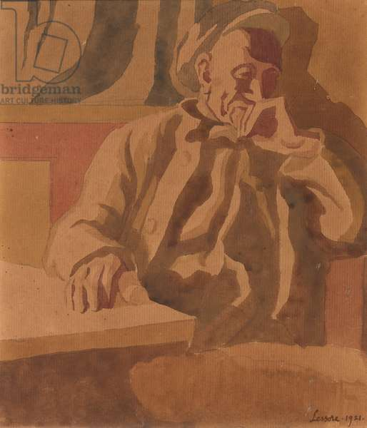 The Thinker, 1921 (w/c on paper)
