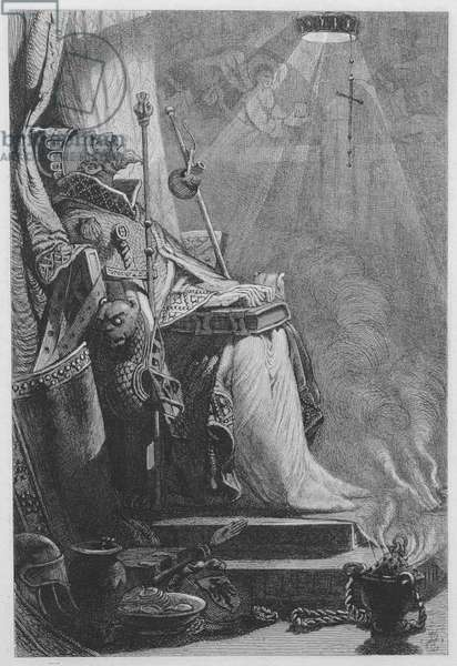 The Emperor Charlemagne in his Tomb (proof etching)