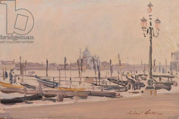 The Redentore from the Piazzetta, 1991 (oil on card)