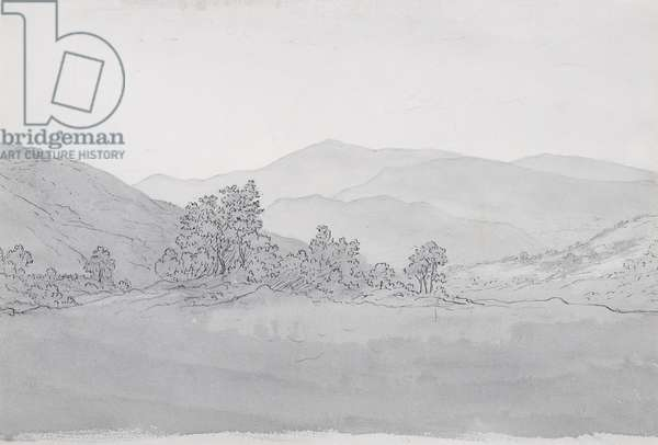 Llantysilio Mountain, Wales (pen, ink & wash on paper)