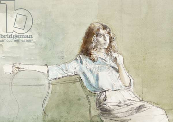 Stephanie, 1978 (pencil & w/c on paper)