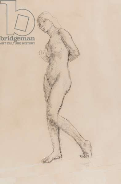 Standing Nude, 1911 (charcoal on paper)