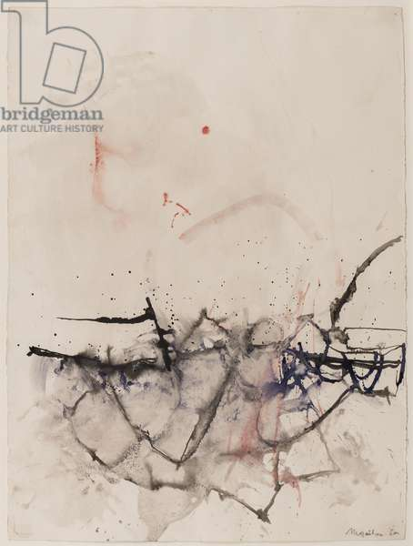 Abstraction, 1960 (brush & ink on paper)