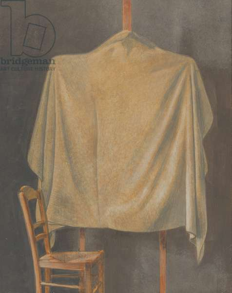 Covered Easel, 1996 (egg tempera on board)