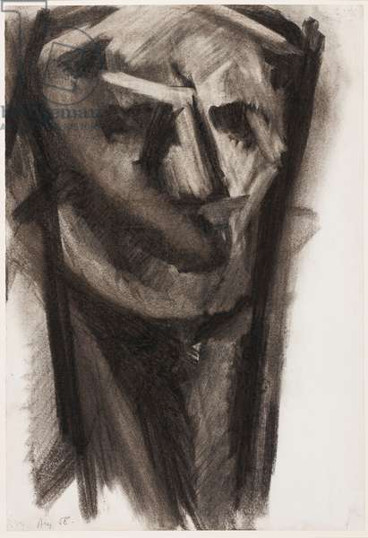 Head, 1958 (charcoal on paper)