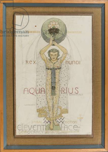 Aquarius, c.1948 (pencil, pen, ink & w/c on paper)