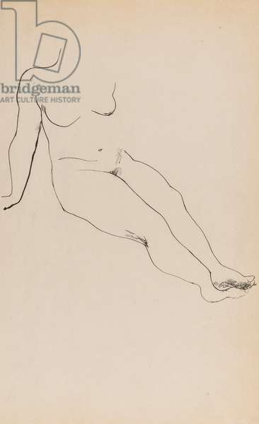 Nude study, c.1925 (pen & ink on paper)