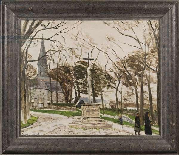 Breton Calvary, c.1955 (oil on canvas)