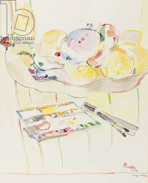 Still-life, 1980 (w/c on paper)