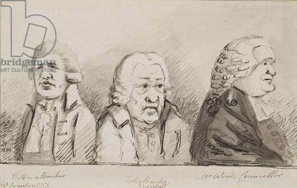 Batson, a Banker, Tulley, Banker, Mr Wood, Councillor, 69 Lombard Street, Cornhill, 1790 (pen, brush & ink on paper)