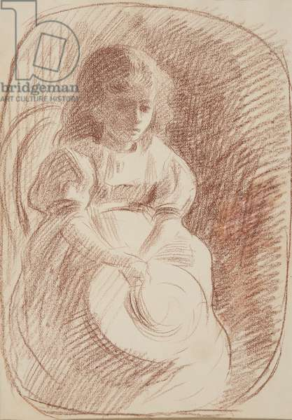 Seated, contre-jour, c.1895 (red chalk on paper)