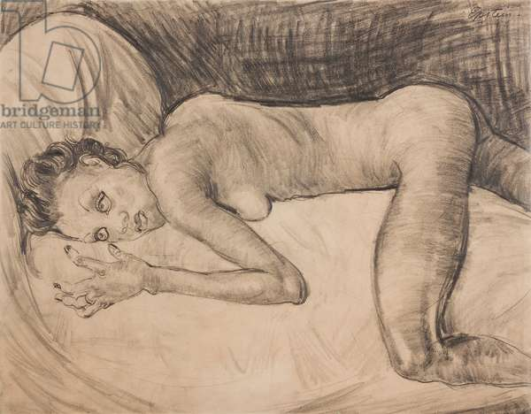 Reclining Nude, c.1925 (pencil on paper)