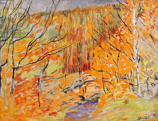 Epping Forest in Autumn, c.1930 (gouache on paper)
