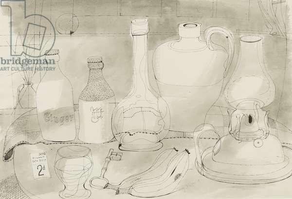 Still-life, 1951 (pen, brush & ink on paper)