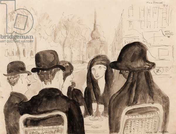 After the Funeral, 1923 (pen, brush & ink on paper)