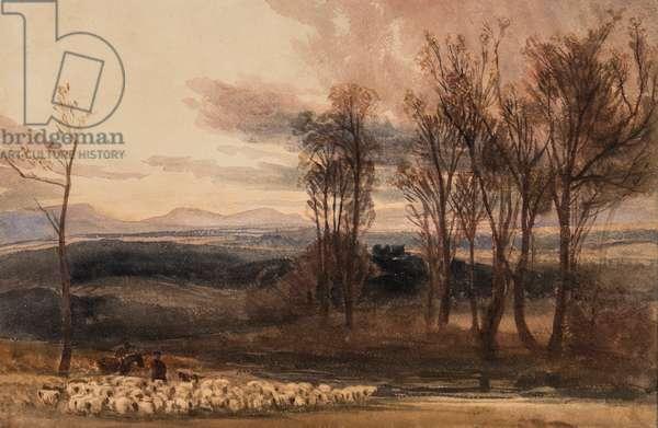 Winter's Dusk, c.1830 (w/c on paper)
