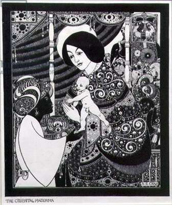 The Oriental Madonna (pen and ink on paper)